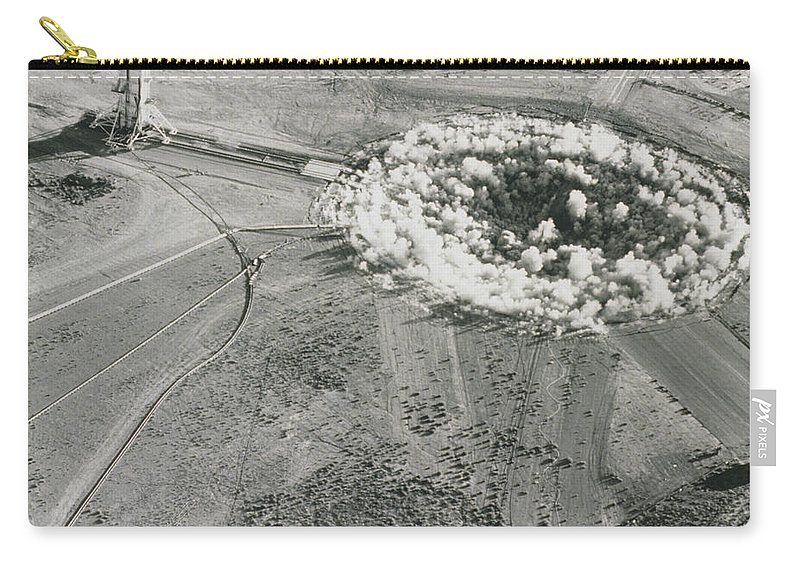 Alamogordo A-bomb Test Site Carry-all Pouch featuring the photograph Underground Atomic Bomb Test by Los Alamos National Laboratory