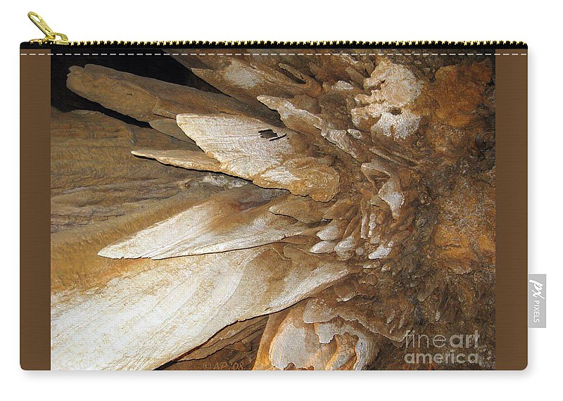 Stalacmites Carry-all Pouch featuring the photograph Underground Wonders. Luray Caverns Va by Ausra Huntington nee Paulauskaite