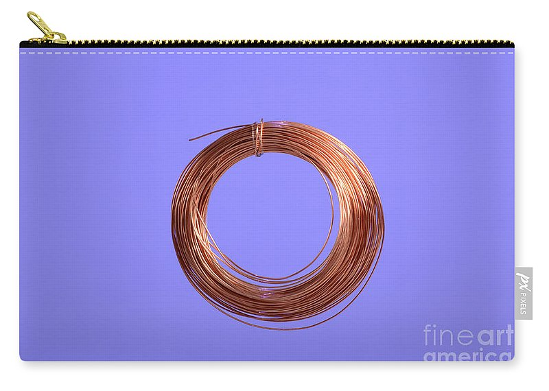 Wire Carry-all Pouch featuring the photograph Uninsulated Copper Wire by Photo Researchers, Inc.
