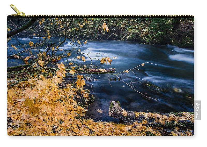 Union Creek Carry-all Pouch featuring the photograph Union Creek In Autumn by Greg Nyquist