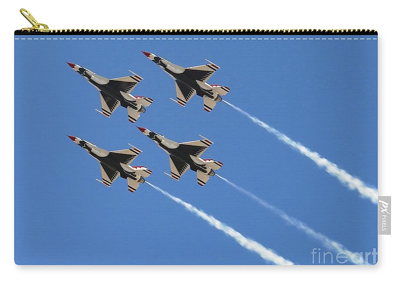 Horizontal Carry-all Pouch featuring the photograph United States Air Force Aerial by Stocktrek Images