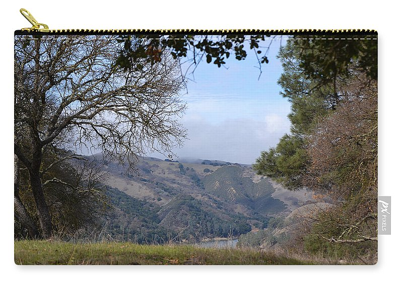 February Carry-all Pouch featuring the photograph Unnamed Trail by Karen W Meyer