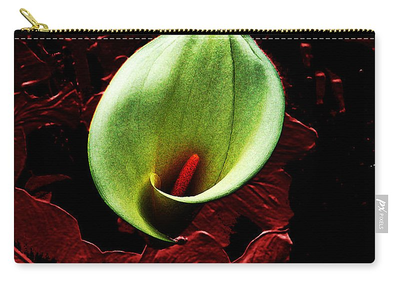 Calla Lily Carry-all Pouch featuring the photograph Untitled Cally Lily by Afroditi Katsikis