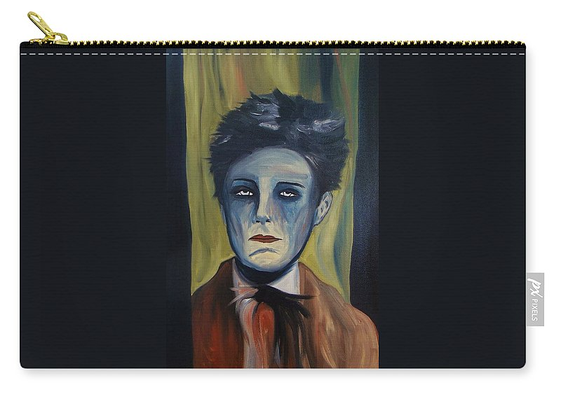 Portrait Carry-all Pouch featuring the painting Untitled O50  by Nate Medvedeva