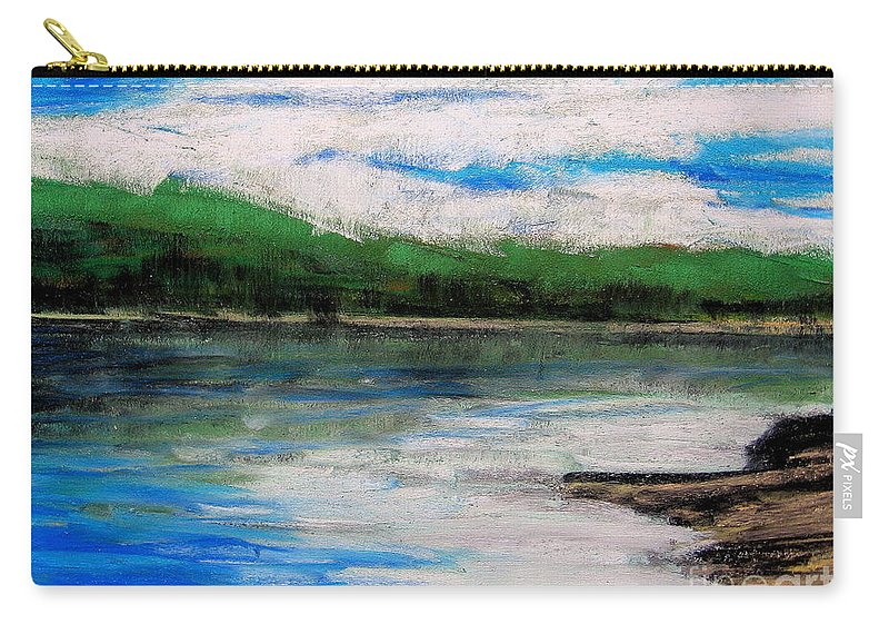 Carry-all Pouch featuring the pastel Up North, Traverse City by Lisa Dionne