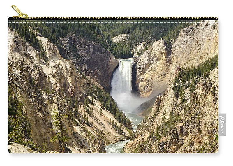 Yellowstone National Park Carry-all Pouch featuring the photograph Upper Falls Yellowstone by Jon Berghoff