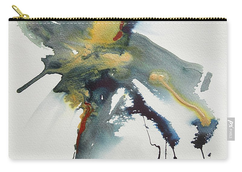 Abstract Acrylic Painting Dpicting Motion And Freedom. Carry-all Pouch featuring the painting Upward by Marilyn Woods