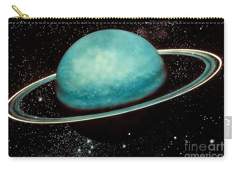 Astronomy Carry-all Pouch featuring the photograph Uranus With Its Rings by Nasa