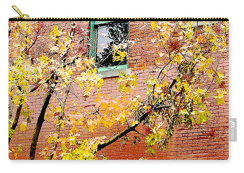 Cityscape Carry-all Pouch featuring the photograph Urban Brick by Lizi Beard-Ward