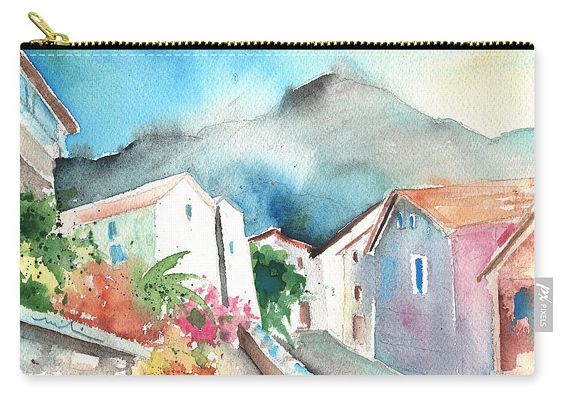 Travel Carry-all Pouch featuring the painting Ussat 01 by Miki De Goodaboom