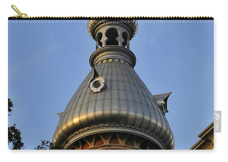 Fine Art Photography Carry-all Pouch featuring the photograph Ut Minaret by David Lee Thompson
