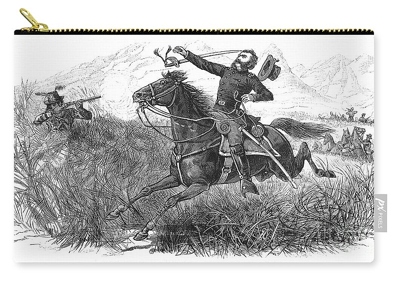 1879 Carry-all Pouch featuring the photograph Utes: White River Attack by Granger