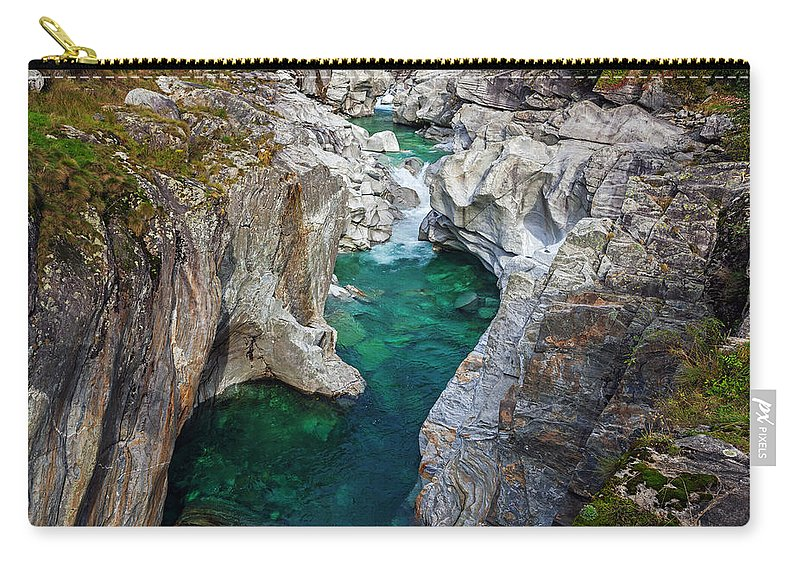 Verzasca Carry-all Pouch featuring the photograph Valle Verzasca - Ticino by Joana Kruse