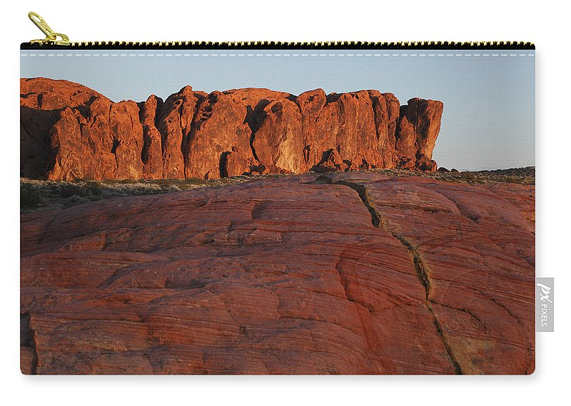Nevada Carry-all Pouch featuring the photograph Valley Of Fire Rockscape by Susan Rovira