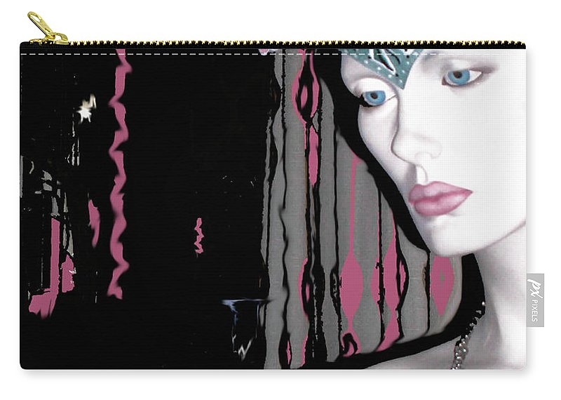 Mannequin Carry-all Pouch featuring the digital art Vamp Five by Lizi Beard-Ward