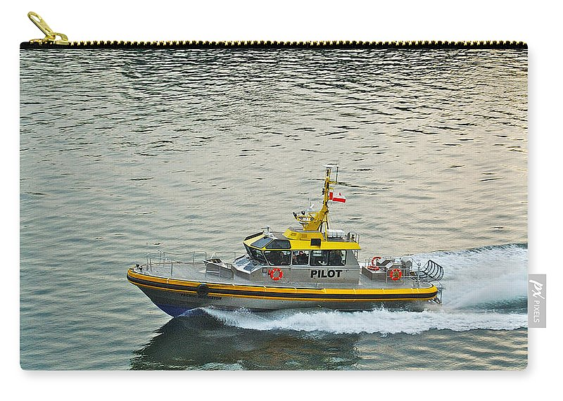 Pacific Carry-all Pouch featuring the photograph Vancouver Harbour Pilot by Michael Peychich