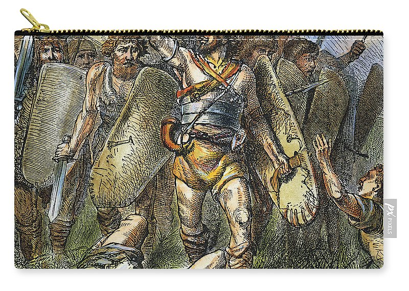 455 Carry-all Pouch featuring the photograph Vandal Invasion Of Rome by Granger