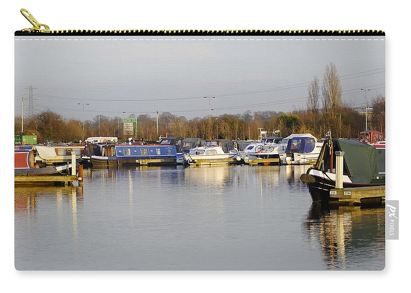 Staffordshire Carry-all Pouch featuring the photograph Various Boats At Barton Marina by Rod Johnson