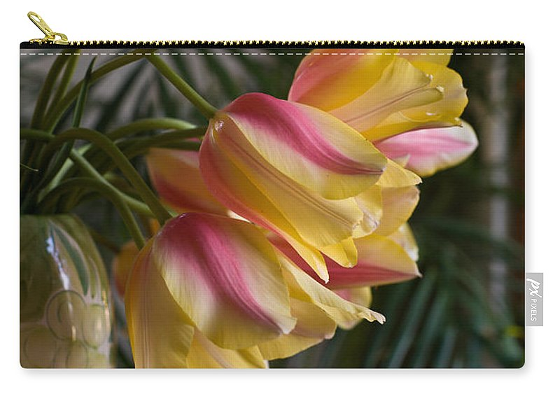 Tulip Carry-all Pouch featuring the photograph Vase Beauty by Mike Reid