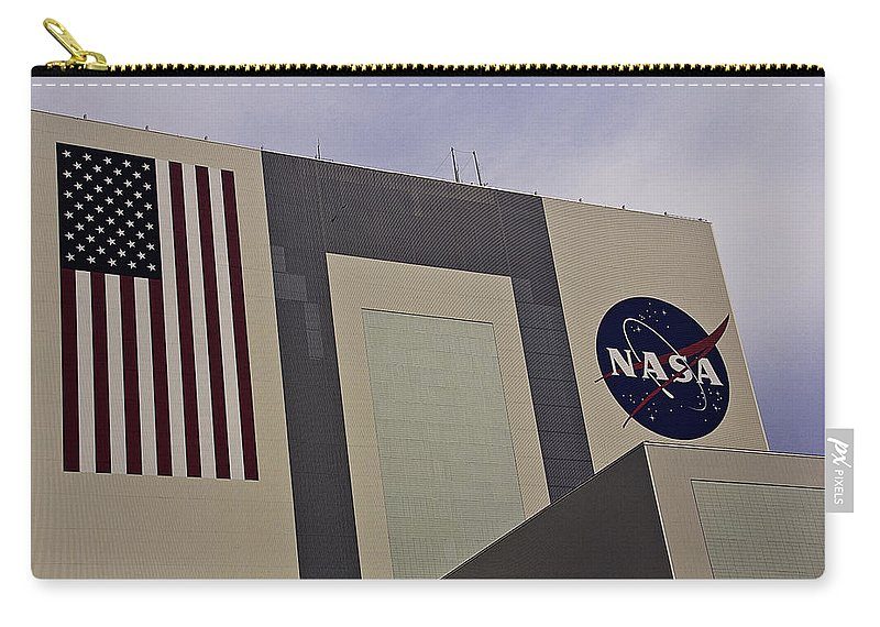 Vehicle Assembly Building Carry-all Pouch featuring the photograph Vehicle Assembly Building by Roger Wedegis