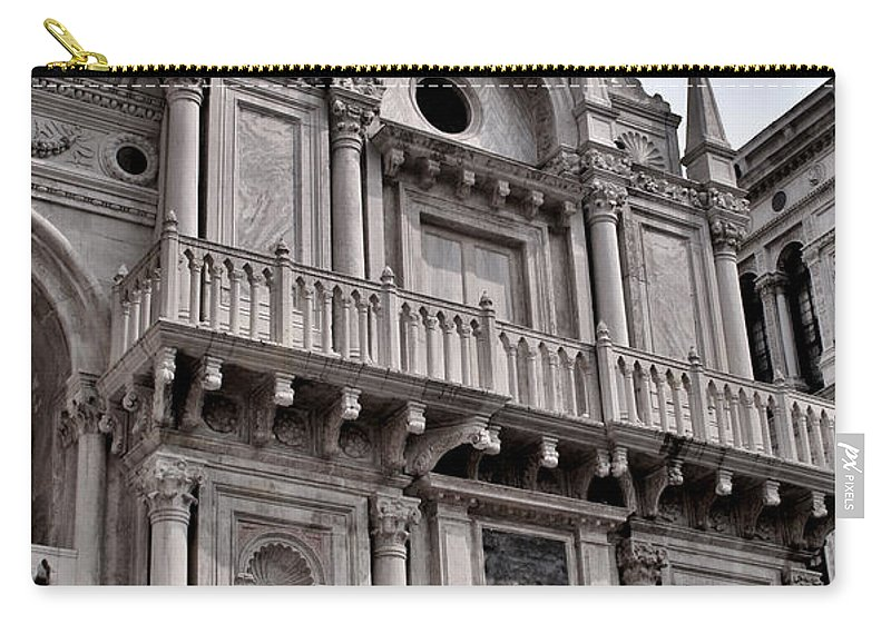 Venice Carry-all Pouch featuring the photograph Venetian Architecture Iv by Ellen Heaverlo