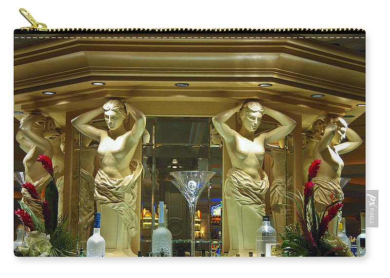 Las Vegas Carry-all Pouch featuring the photograph Venetian Hotel Barmaids by Jon Berghoff