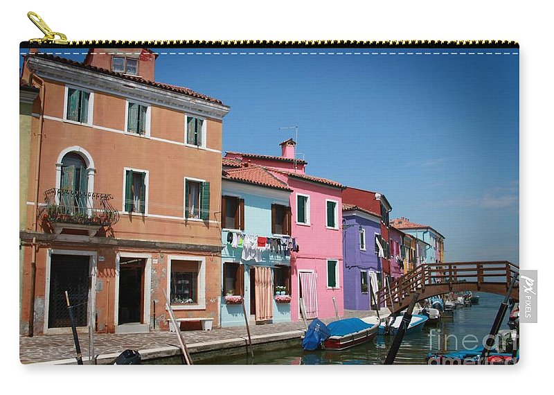 Venice Carry-all Pouch featuring the mixed media Venice Canal by Linda Woods