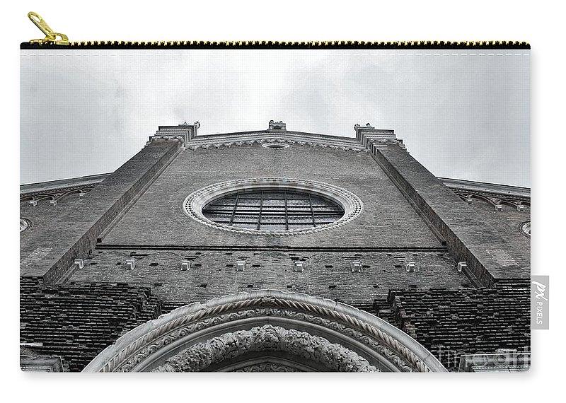 Venice Carry-all Pouch featuring the photograph Venitian Architecture I by Ellen Heaverlo