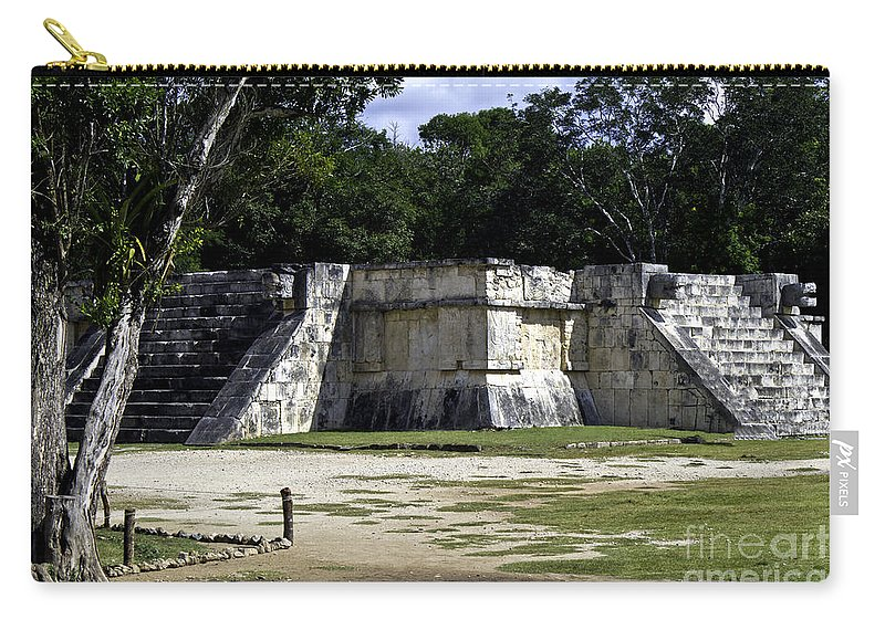 Chichen Itza Carry-all Pouch featuring the photograph Venus Platform by Ken Frischkorn