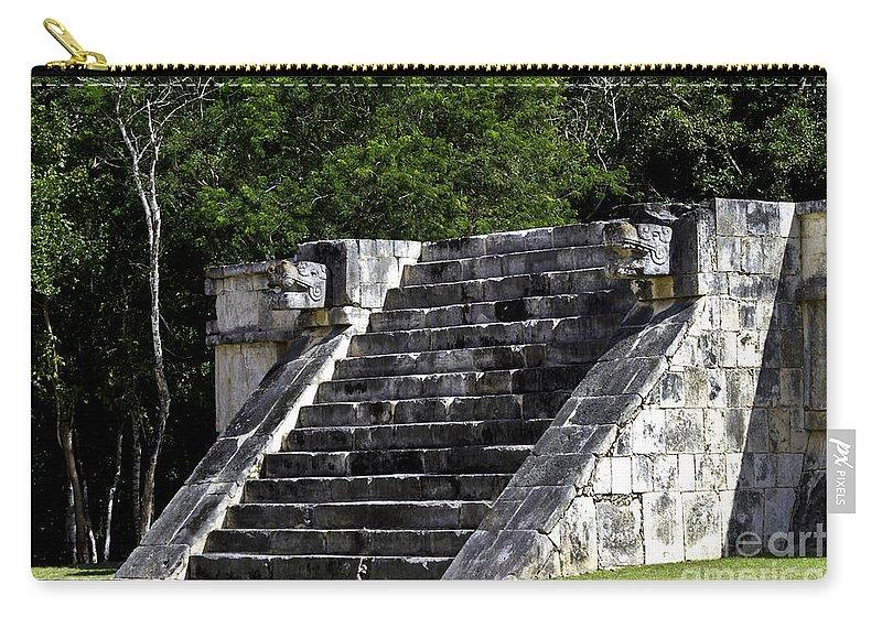 Chichen Itza Carry-all Pouch featuring the photograph Venus Platform Two by Ken Frischkorn