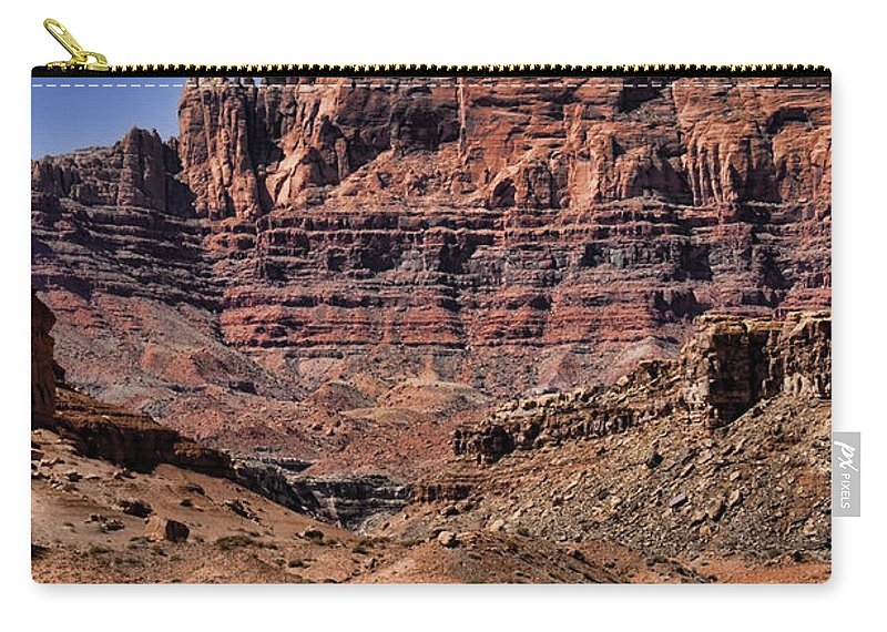 Vermilion Cliffs Carry-all Pouch featuring the photograph Vermilion Cliffs Arizona by Jon Berghoff