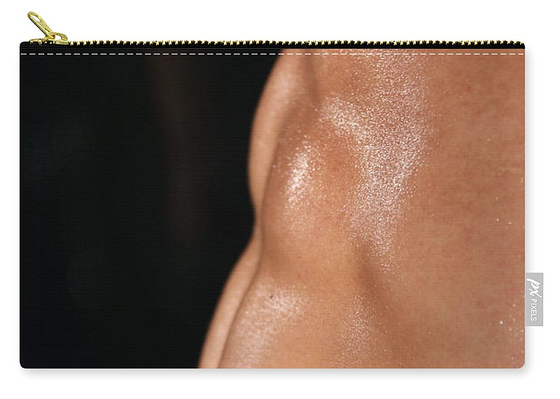 Male Nude Photos Carry-all Pouch featuring the photograph Very Abs by Mark Ashkenazi