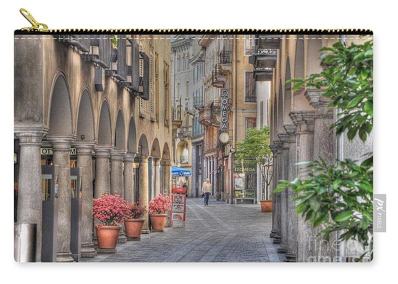 Street Carry-all Pouch featuring the photograph Via Nassa by Mats Silvan