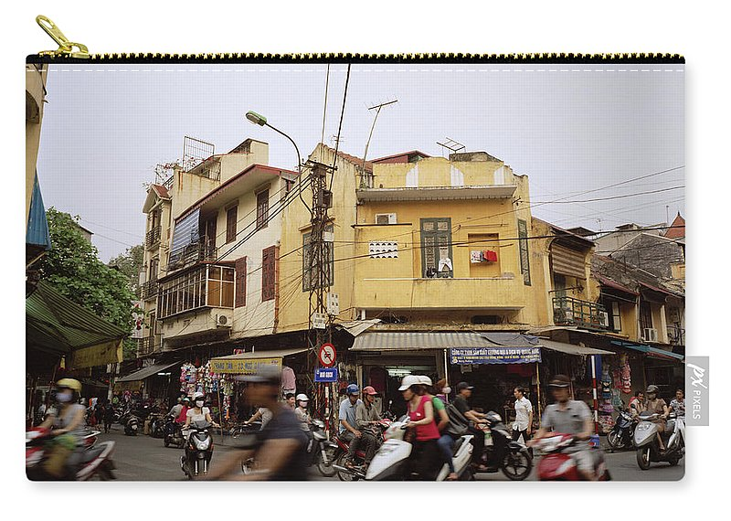 Asia Carry-all Pouch featuring the photograph Vibrant Hanoi by Shaun Higson