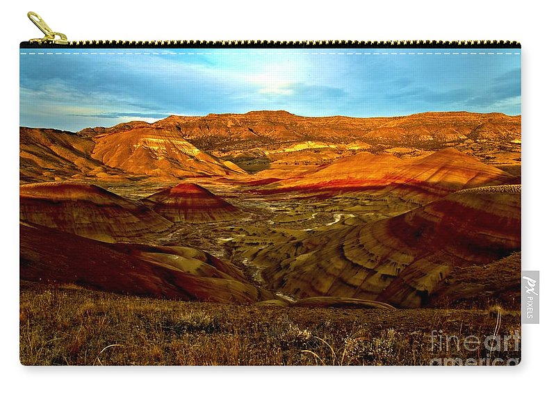 John Day Fossil Beds Carry-all Pouch featuring the photograph Vibrant Hills by Adam Jewell