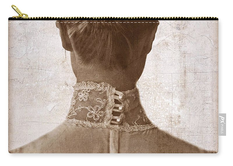 Woman Carry-all Pouch featuring the photograph Victorian Lady From Behind by Jill Battaglia