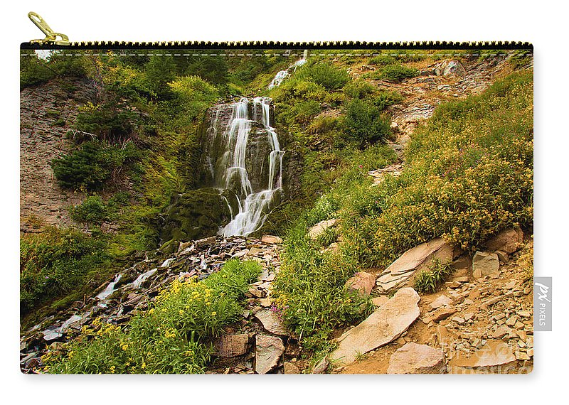 Vidae Falls Carry-all Pouch featuring the photograph Vidae Falls Landscape by Adam Jewell