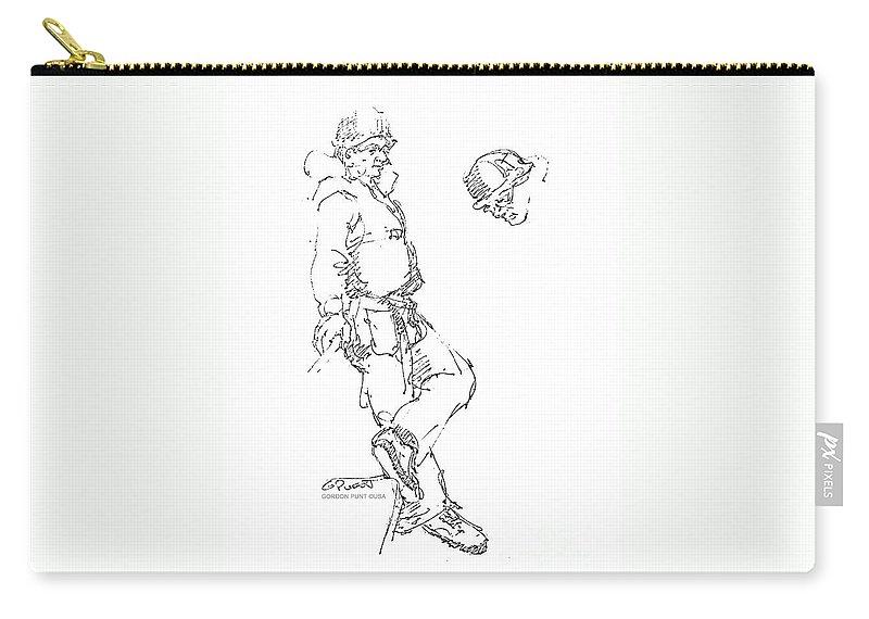 Vietnam War Art Carry-all Pouch featuring the drawing Vietnam War Art-1 by Gordon Punt