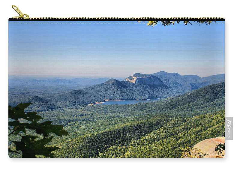 south Carolina Carry-all Pouch featuring the photograph View From Caesar's Head by Lynne Jenkins