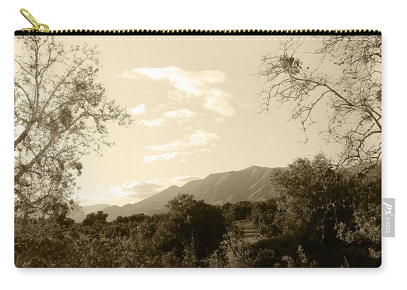 Ojai Carry-all Pouch featuring the photograph View In The Valley by Kathleen Grace