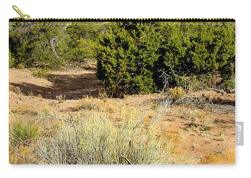 Desert Carry-all Pouch featuring the photograph View Of The Desert New Mexico by Kathleen Grace