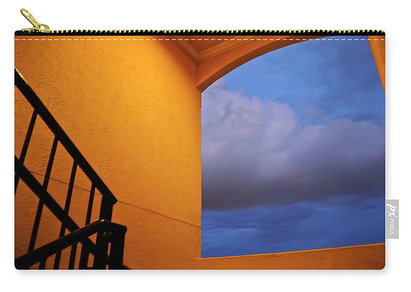 Window Carry-all Pouch featuring the photograph View Through A Stairwell by Carolyn Marshall