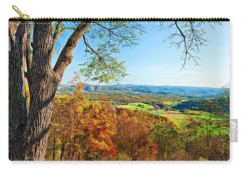 West Virginia Carry-all Pouch featuring the photograph View With Caution by Steve Harrington