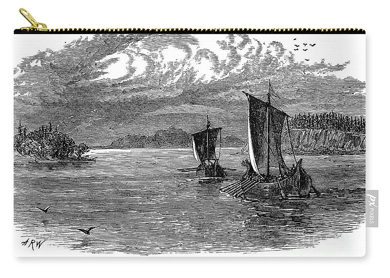 11th Century Carry-all Pouch featuring the photograph Vikings: North America by Granger