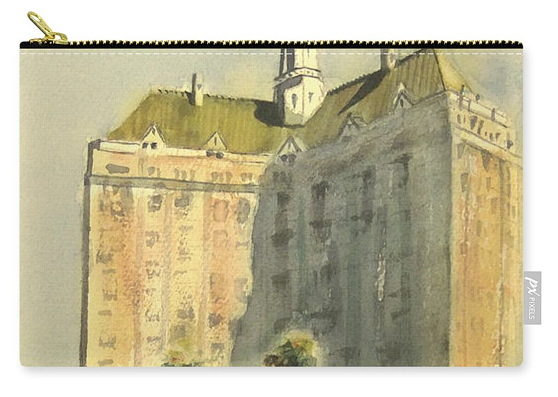 Villa Riviera Carry-all Pouch featuring the painting Villa Riviera Another View by Debbie Lewis