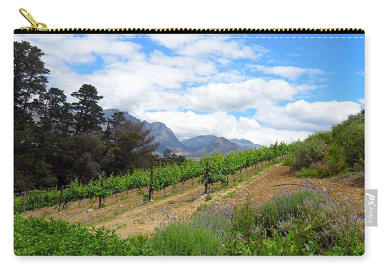 Agricultural Carry-all Pouch featuring the photograph Vineyard by Paul Fell