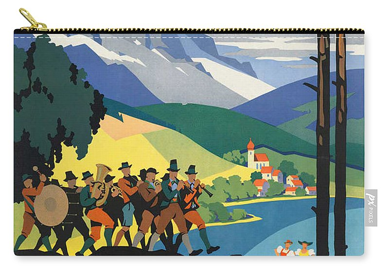 Austria Carry-all Pouch featuring the photograph Vintage Austrian Travel Poster by George Pedro