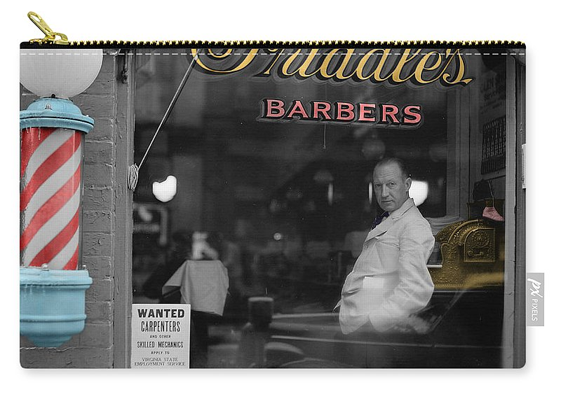 Barber Carry-all Pouch featuring the photograph Vintage Barbershop 2 by Andrew Fare