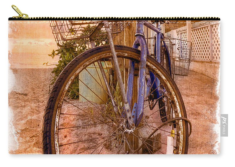 Delray Carry-all Pouch featuring the photograph Vintage Bicycle by Debra and Dave Vanderlaan