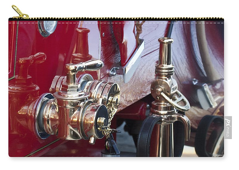 Vintage Fire Truck Carry-all Pouch featuring the photograph Vintage Fire Truck 1 by Jill Reger